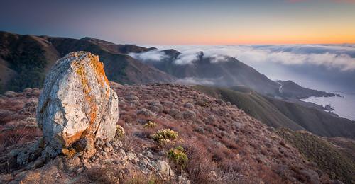 mountain coast big rocks pacific bigsur rocky boulder pacificocean coastal carmel sur carmelhighlands doudpeak