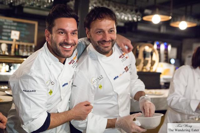 Chef Denny Imbroisi (left) and Ugo Alciati (right)