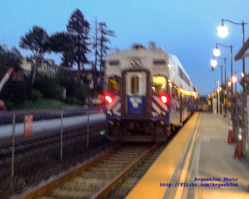 iPod Touch Photo of Sounder North Pulling Away From Mukilteo Station