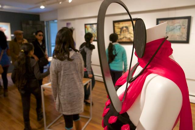 "Discovery: A Slice of Diversity. Group Exhibition of Ismaili Muslim Female Artists. Curated by Taslim Samji. Nov 8th-29th, 2014., ""Bodacious"" by Nashifa Rashid."