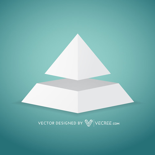 simple pyramid shape design | by vecree.com