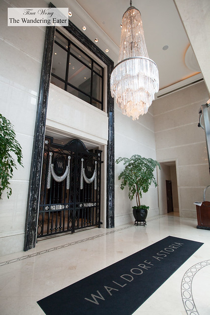 At the foyer of Waldorf Astoria