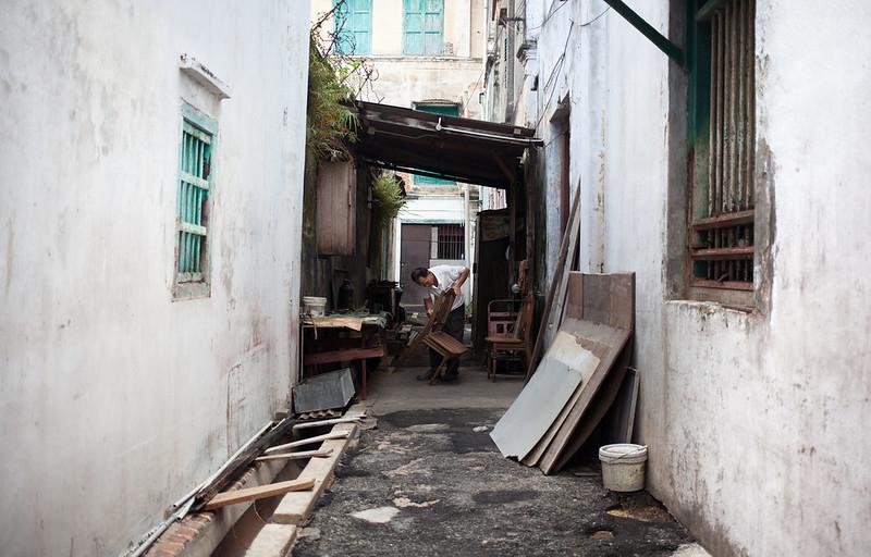 man at work @ George Town, Malaysia