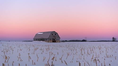 ottawa ontario canada westend west western nikond7100 nikon d7100 bensenior farm farmland farmfield farmfields sun sunset color colours colors colour blue pink orange red purple barn old landscape building oldbuilding