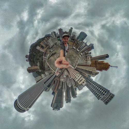 roof hongkong amazing view sky tinyplanet planet man selfie top best art awesome alexandrtikki travel leveltravel