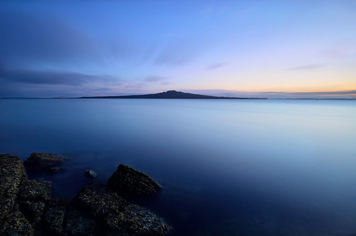 longexposure newzealand sky seascape motion water clouds sunrise island nikon colours ngc goldenhour 1224 rangitoto nd1000