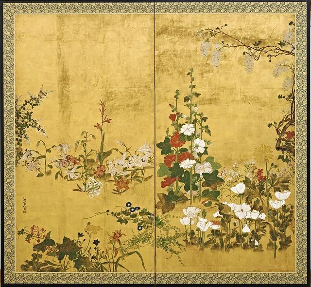 Watanabe Shiko (1683-1755) - Flowers (The Freer Gallery of Art, Washington DC)