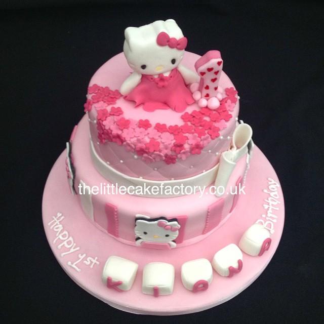 Fine Hello Kitty Baby Pink Cake Hellokitty Sugar Baby Pink Flickr Personalised Birthday Cards Veneteletsinfo