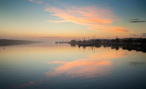 sunset coast harbour shoreline lakes entrance east wharf gippsland