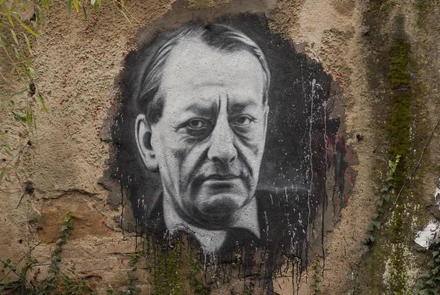 André Malraux, painted portrait _DDC1574
