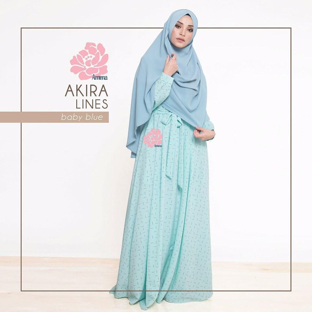 Gamis Amima Akira Dress Lines Baby Blue - baju gamis wanit  Flickr