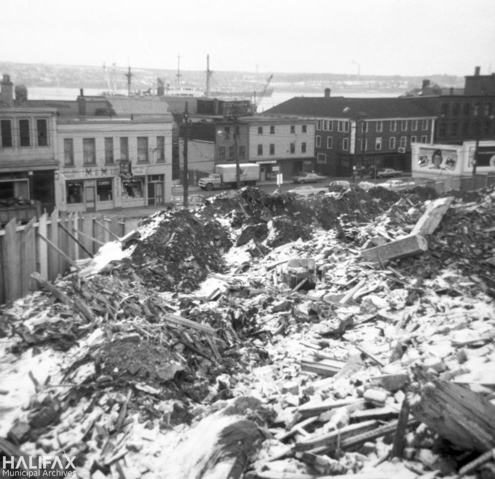 Scotia Square excavation site
