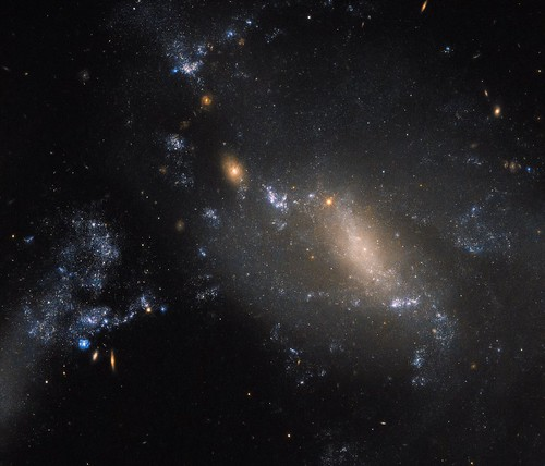 Hubble Sees NGC 3447: 2 Galaxies in a Cosmic Dance Defy Conventions | by NASA Goddard Photo and Video