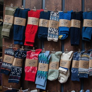 Just a small peek at our sock lineup from @anonymousism_ism. Knitted in Japan with a stated goal 'to be a team which makes everyone find true happiness'; their socks are incredible, both in construction and design.