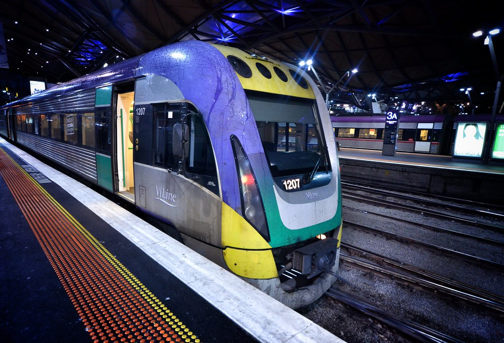 VLocity at Southern Cross Station, Victoria, Australia by Phil Ostroff