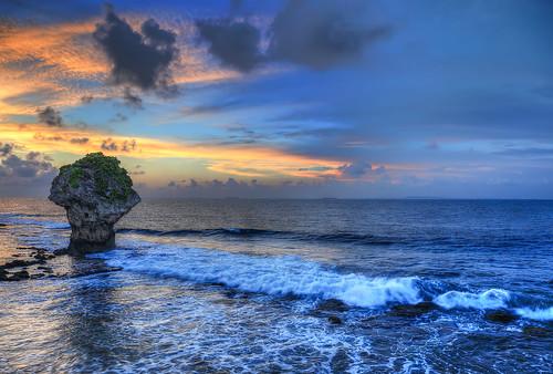 sunset beach 夕陽 日落 小琉球 花瓶岩