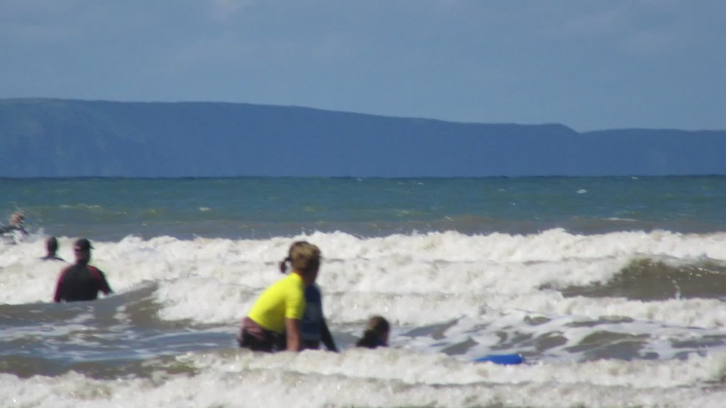 My Girl Surfing at Saunton Sands Beach, North Devon