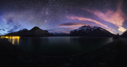 Lake Minnewanka Night Pano | by Bun Lee