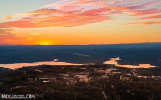 Sunset over Clemson University