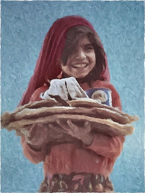 Iranian Bread Girl
