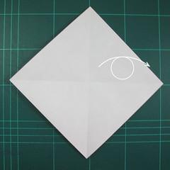 วิธีพับกระดาษเป็นรูปแมลงปอ (Origami Dragonfly) 002
