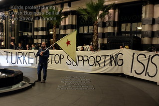 Kurds protest at Turkish Business Ball at The Savoy | by PictureCapital