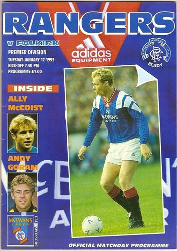 Rangers v Falkirk | League 12.1.1993 Postponed Rangers ...