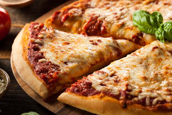 Homemade Hot Cheese Pizza