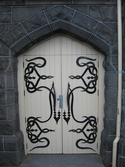 A Basement Door of St Jude's Church of England - Corner of Lygon, Palmerston and Keppel Streets, Carlton