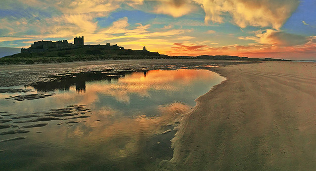 Low Tide at Bamburgh Castle.