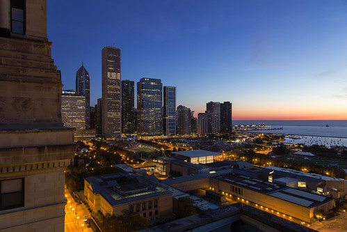 park morning chicago sunrise millennium michiganavenue