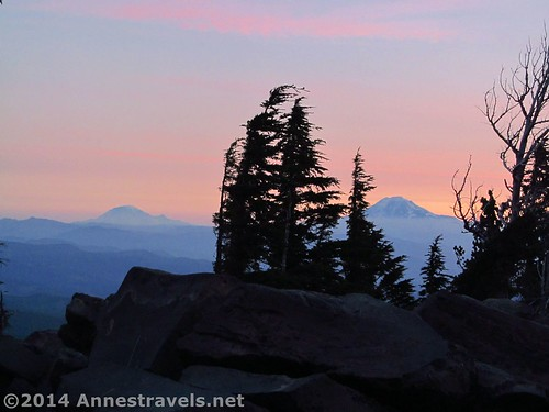Volcanoes from the Cloud Cap Campground, Mount Hood National Forest, Oregon