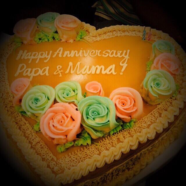 Anniversary Cake Of My Parents Happy 37th Anniversary Mam Flickr
