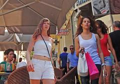 Greece, Macedonia, Kavala, mini congestion in the walkway