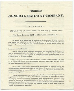 Hibernian General Railway Notice of Meeting 1825 2 | by ian.dinmore