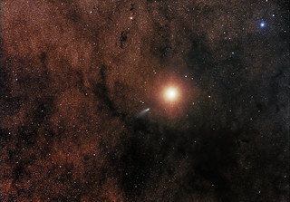 Comet C/2013 A1 (Siding Spring) alongside Mars | by spacemovie