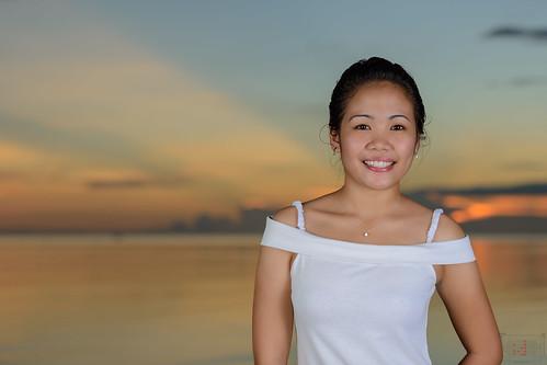sunset sexy beach beautiful lady pretty filipina phl philippinen negrosoccidental sipalay