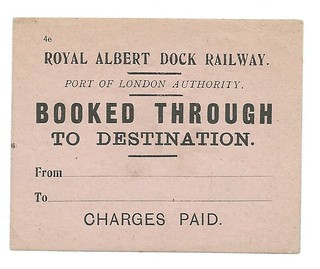 Royal Albert Dock Railway Luggage Label undated 1 | by ian.dinmore