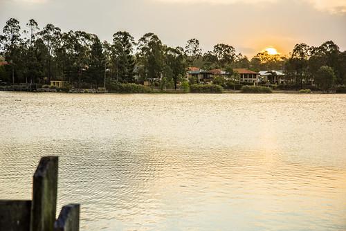 sunset sky lake water lakes forestlake sunsetsandsunrisesgold