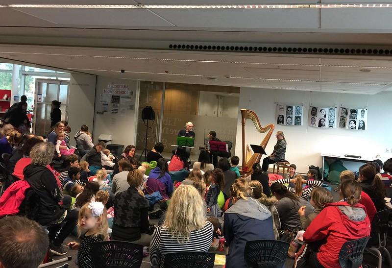 Audience for Harp ensemble, Upper Riccarton Library