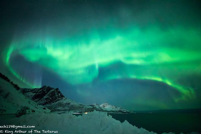 路邊海邊極光(Aurora)