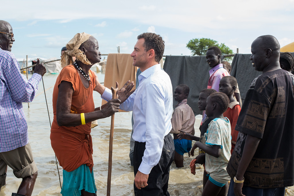 UNMISS Humanitarian Coordinator visits Bentiu IDP Camp with Dutch and British Ambassadors