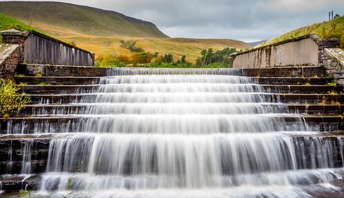 wales waterfall reservoir breconbeacons