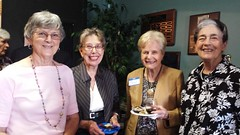 LWV members Marge Hicks, June Pfefer, Winn Colwill and Bernice Prost
