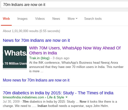 70 million Indians on WhatsApp as well as Diabetes! | Flickr