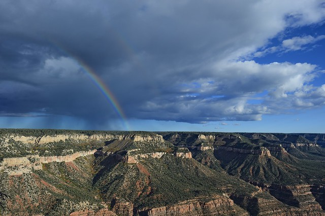 Rainbow over the North Rim, Grand Canyon