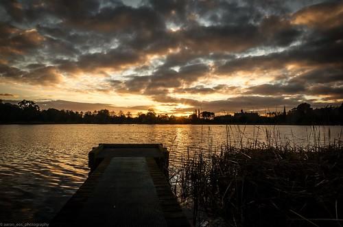 park sunset lake dusk sony lurganpark lightroom5
