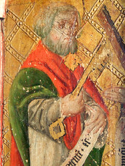 Mattishall screen: St Peter (15th Century)