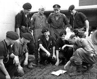 1959 RNZAF Bristol Freighter NZ5906 at RAF Station Kuala Lumpur - Crew briefing