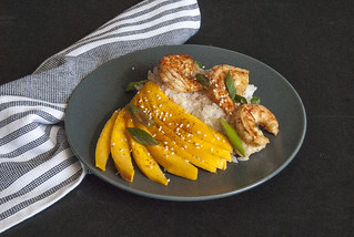 Chilli Lime Shrimp with coconut rice and mangoes 3 | by theSeasonaljunkie